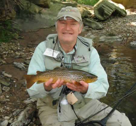 Wild Brown Trout from the private water of the Conewago Fly Fishers caught by Allen Kessel