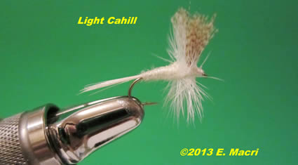 Light Cahill Dry Fly Imitation from The Light Cahill Mayflies: Stenonema and Stenacron: Summer Hatches