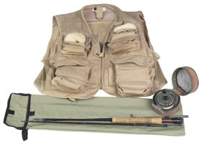 Fly Fishing Gear: Fly Rods, Fly Reels and Vest