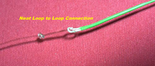 A finished loop to loop connection on a fly line at www.flyfisher.com